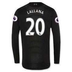 16-17 Liverpool Football Shirt Away Cheap Long Sleeve #20 LALLANA Jersey [F457]