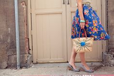 Kendi of Kendi Everyday in polka-dots, floral, and stripes.