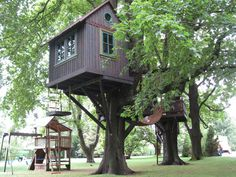 kids rustic treehouse | ... Play Structures for Kids-Southampton Treehouse: Southampton Treehouse