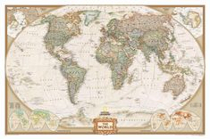National Geographic Old World Map Wallpaper
