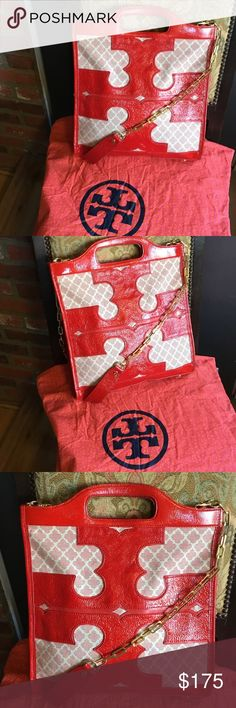 Large Tory Burch Thalie Tote Rare !!! Absolutely fabulous Tory Burch Tote in nice preowned condition, clean inside and out ,thank you Tory Burch Bags Totes