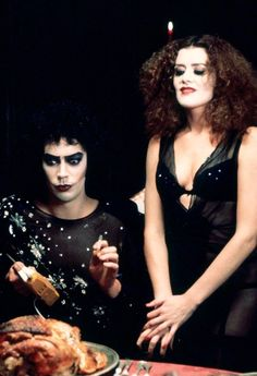 BROTHERTEDD.COM - hollywoodlady:     Tim Curry and Patricia Quinn... Tim Curry Rocky Horror, Rocky Horror Show, The Rocky Horror Picture Show, Brenda Song, Glee Cast, Thomas Brodie Sangster, Freddie Mercury, American Horror Story, Hollywood