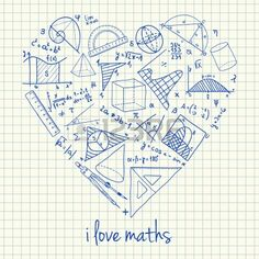 I love math doodles in heart vector by kytalpa on VectorStock® MATHEMATIC HISTORY Mathematics is one of many oldest sciences … Doodle Art, Math Teacher, Math Classroom, Teaching Math, Math Wallpaper, Math Design, Math Quotes, Sketches, Physical Science