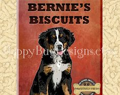 "Bernese Mountain Dog Refrigerator Magnet - 2.5"" x 3.5"" - Bernie's Biscuits"