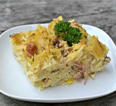 Jak udělat: Šunkofleky Czech Recipes, Old Recipes, Ethnic Recipes, Musaka, Quiche, Mashed Potatoes, Main Dishes, Food And Drink, Yummy Food