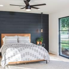 Garage Turned Edgy Master Bedroom
