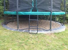 My Bespoke Solutions – Trampoline Foundations - Modern Garden Trampoline, Backyard Trampoline, Backyard Playground, Backyard Farming, Backyard Landscaping, Trampoline Ideas, Sunken Trampoline, Backyard Toys, Landscaping Ideas
