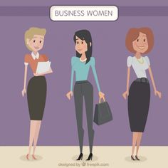 Stylish business women Free Vector