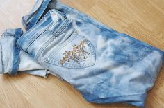 Jeans bleichen used Look