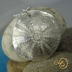 Image result for large silver urchin shell pendant