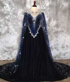 """Haute Goth & Dark Couture on Instagram: """"One more photo ✨of the #nightgoddess gown """""""