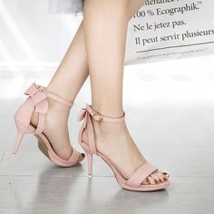 Platform Open Toe Ankle Lace Up Wrap Stiletto High Heels Sandals High Heels Outfit, Black High Heels, High Heels Stilettos, Stiletto Heels, Sandals Outfit, Classy Heels, Black Strap Heels, Prom Heels, Strappy Sandals Heels