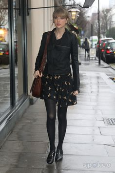 Taylor Swift. out and about in central London.