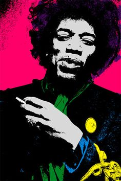 JIMI HENDRIX Illustration 85x11 by ellasgoods on Etsy, $12.00