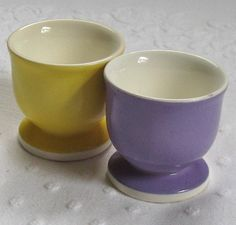 Vintage Two German EGG CUPS 1950s by vintagous on Etsy, $12.50