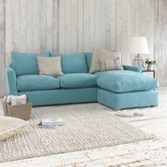 Pavilion blue chaise sofa