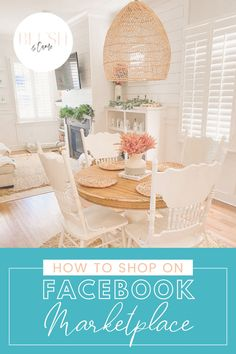 Have you ever wondered how to shop on Facebook Marketplace? It's easy! I've sound some amazing pieces for a fraction of what I'd spend on them new. They've been the perfect addition to my home. Let me show you no only how to shop on Facebook Marketplace but also what to look for! You're going to love it! #shopping #ilovehomedecor #facebookmarketplace