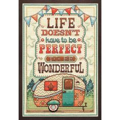Design Works™ Life Is Wonderful Counted Cross-Stitch Kit Was: $19.99                     Now: $15.99