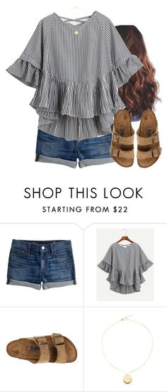"""""""Just got some new jean shorts"""" by aweaver-2 on Polyvore featuring J.Crew, WithChic, Birkenstock and Marc by Marc Jacobs"""