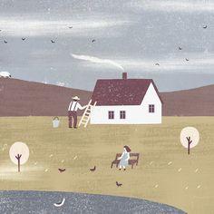 fragment from spring illustration by nastia sleptsova for gamanknits.com