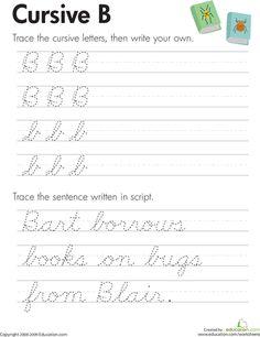 Slideshow: Cursive Handwriting Practice Worksheets (A-Z)
