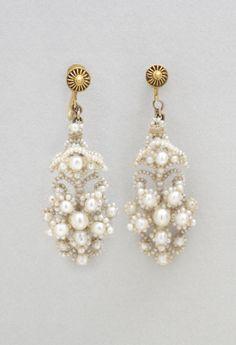 Set of Jewelry: Earrings Artist/maker unknown, American 1850-60