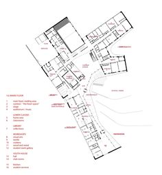 Image 26 of 33 from gallery of Saunalahti School & VERSTAS Architects. First Floor Plan School Floor Plan, School Plan, Art School, Education Architecture, School Architecture, Architecture Plan, Chinese Architecture, Architecture Drawings, Finland School