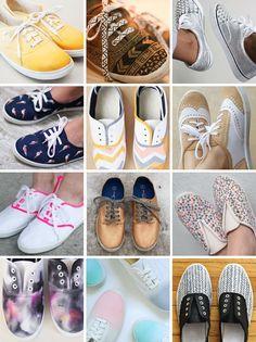 DIY // shoes: sneaker tutorials - www.PSbyDila.com