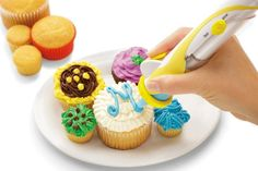 Frosting Deco Pen $79.00  Our Swiss-designed, battery-powered Frosting Deco Pen gives you precise control for amazing effects - writing, borders and shapes. 6 different decorating tips give you lots of options. Comes with 3 refillable frosting cartridges for different colors. Fast, easy, fun and mess-free.  Sold at all Metro Woodlands Departmental Stores. Visit www.metro.com.sg for more information or LIKE our Facebook page at www.facebook.com/metrosingapore