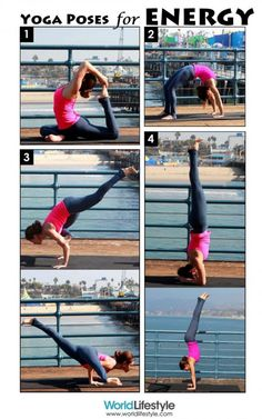 Recharge with these #yoga poses for energy ~~ perfect for an early morning energy boost, no caffeine needed!