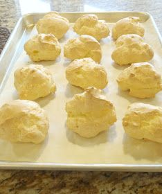 The first time I decided to try making cream puffs I was pretty intimidated. They seemed so complicated and I was sure my first attempt wo. Yummy Treats, Delicious Desserts, Sweet Treats, Snack Recipes, Dessert Recipes, Cooking Recipes, Dessert Ideas, Healthy Recipes, Snacks