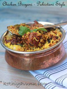 Pakistani-style Chicken Biryani Read Recipe by jtzag Spicy Recipes, Curry Recipes, Indian Food Recipes, Asian Recipes, Cooking Recipes, Ethnic Recipes, Veggie Recipes, Cooking Tips, Healthy Recipes