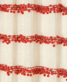 pom pom stripe curtains