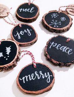 Chalk Art Wood Slice Gift Tags, 6-Pack