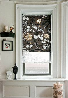 a few yards of your favorite fabric and whip up these roller blinds courtesy of Design Sponge.