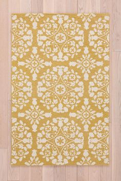 7. (Lilly Rug) The print on this rug would go perfect with the ruffle cover! #UrbanOutfitters #smallspace