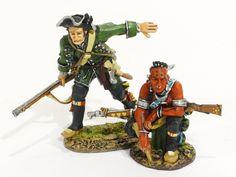John Jenkins Designs Toy Soldiers Raid of St. Francis 1759 Roger's Rangers Captain Joseph Waite and Indian Scout RR-08