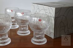 KEKKERIT Moukku 20 cl, 4 pcs - FourSeasons.fi Clear Glass, Glass Art, Colored Glass, Scandinavian Design, Pedestal, White Wine, Coloured Glass, White Wines, Nordic Design