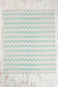 Zigzag Handmade Rug - Urban Outfitters 8x10 199+25% off. This may be IT.