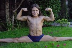 Richard Sandrak, little Hercules, the world's Strongest boy.