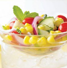 If you chop the ingredients in this Corn, Cucumber and Tomato Salad small enough, it doubles as a super fresh salsa. Perfect for dipping or topping a burger.