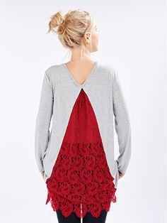 burda style, Stoff - Diese elastische Chenille-Spitze mit Paisleymuster kann wunderbar für festliche Kleider eingesetzt werden, ist aber auch durchaus alltagstauglich. Foto: Jan Schmiedel. Model: Lena Klippel