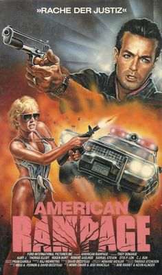 THE ACTIONEER / German VHS of American Rampage (David DeCoteau, 1989)