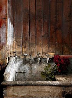 rustic old sink...perfect for garden shed