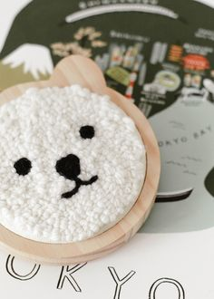 Tuto Aiguille Magique - PeekItMagazine punch needle Record of Knitting String spinning, weaving and sewing careers such as BC. Hook Punch, Punch Needle Patterns, Rug Yarn, Punch Art, Crochet For Kids, Rug Hooking, Embroidery Patterns, Sewing, Blog