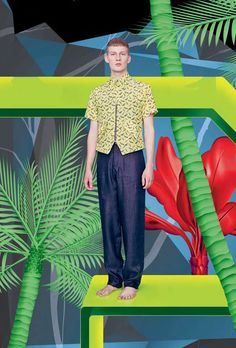 The Raphael Hauber Spring/Summer 2013 Catalog Stars Bastian Thiery Summer Editorial, Editorial Fashion, Work Fashion, Mens Fashion, Fashion Design, Tropical Fashion, Collections Catalog, Tumblr, Fashion Catalogue