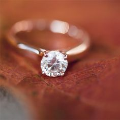 Ceri's new rose gold solitaire engagement ring! It's so gorgeous! <3