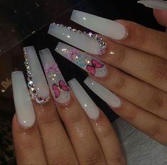 Acrylic Nails Coffin Pink, Long Square Acrylic Nails, Coffin Nails, Pastel Nails, Drip Nails, Glow Nails, Bling Nails, Swag Nails, Dope Nail Designs