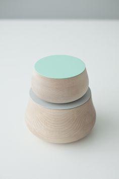 """Studio Juju : """"Wobble"""" Wood Cotainers"""