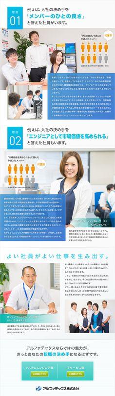 アルファテックス株式会社/【若手が活躍中!】キャリアステージの選択肢が豊富なシステムエンジニアの求人PR - 転職ならDODA(デューダ)